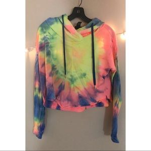 rue21 Cropped Tie-Dye Sweatshirt, lightly worn!